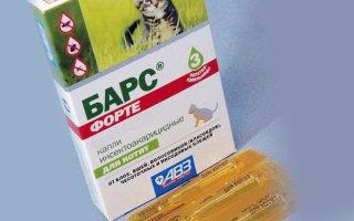 Как правильно пользоваться каплями Барс для кошек ?