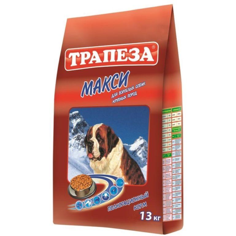 Сухой корм для собак Трапеза Макси